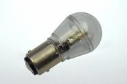 BAY15d LED-Miniglobe 60 Lumen Gleichstrom 10-30V DC warmweiss 0,7W