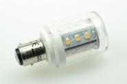 BAY15D LED-Stiftsockellampe 250 Lumen Gleichstrom 10-30V DC warmweiss 2,5W