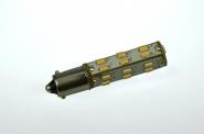 BA9s LED-Bajonettsockellampe 146 Lumen Gleichstrom 10-30V DC warmweiss 1,3W