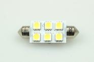 S8x42 LED-Soffitte 110 Lumen Gleichstrom 10-30V DC kaltweiss 1W