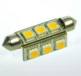 S8x42 LED-Soffitte 145 Lumen Gleichstrom 10-30V DC warmweiss 2W
