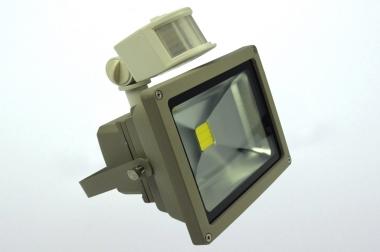 LED-Flutlichtstrahler 1700 Lumen Gleichstrom  kaltweiss 22W