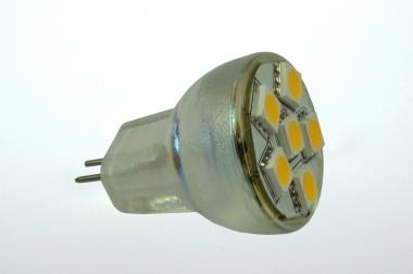 GU4 LED-Spot MR8 102 Lumen Gleichstrom 10-30V DC warmweiss 1W