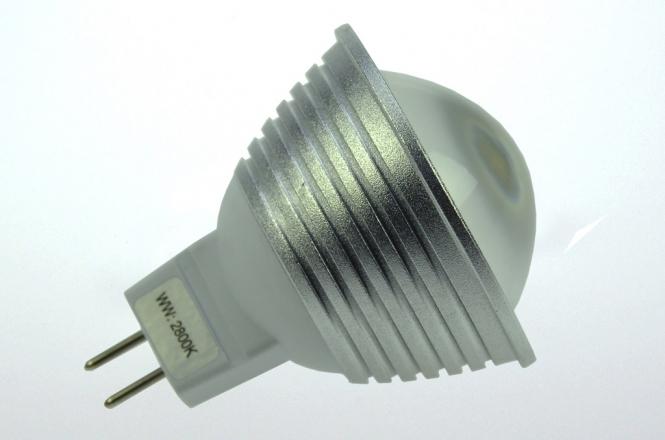 GU5.3 LED-Spot MR16 300 Lumen Gleichstrom 12-25V DC kaltweiss 4,8W