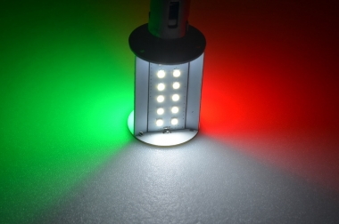BAY15D LED-Bajonettsockellampe 270 Lumen Gleichstrom 10-30V DC RGW 4W
