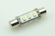 S8x42 LED-Soffitte 75 Lumen Gleichstrom 10-30V DC warmweiss 0,7W
