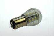 BAY15d LED-Miniglobe 140 Lumen Gleichstrom 10-30V DC warmweiss 1,6W