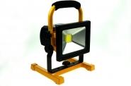 Akku LED-Flutlichtstrahler 1300 Lumen Gleichstrom 12V DC kaltweiss