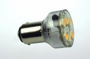 BA15D LED-Bajonettsockellampe 120 Lumen Gleichstrom 10-30V DC kaltweiss 1W