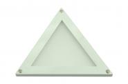 LED-Panel 100 Lumen Gleichstrom 12-14V DC warmweiss 2W Dreieck