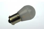 BA15S LED-Miniglobe 110 Lumen Gleichstrom 10-30V DC warmweiss 1,6W