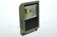 LED-Flutlichtstrahler 3800 Lumen Gleichstrom 120-230V DC kaltweiss 50W flache Bauweise