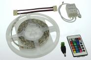 LED-Lichtband 290 Lumen Gleichstrom 12V DC RGB 28,8W dimmbar