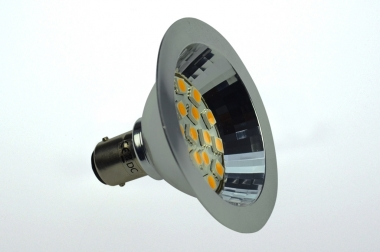 BA15D LED-Bajonettsockellampe AR70 250 Lumen Gleichstrom 10-30V DC warmweiss 2,7W