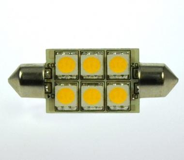 S8x37 LED-Soffitte 107 Lumen Gleichstrom 10-30V DC kaltweiss 1W