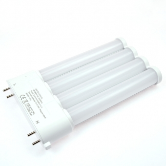 LED-Kompaktlampe 1500 Lumen Gleichstrom  warmweiss 15 W internes Netzteil
