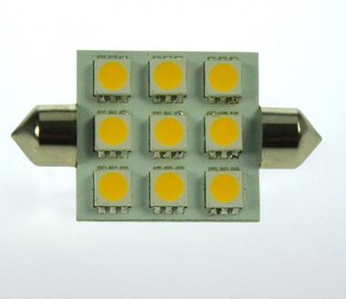 S8x37 LED-Soffitte 170 Lumen Gleichstrom 10-30V DC warmweiss 2W