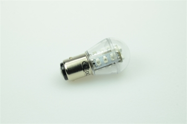 BAY15D LED-Miniglobe 51 Lumen Gleichstrom 10-30V DC Grün 0,9W