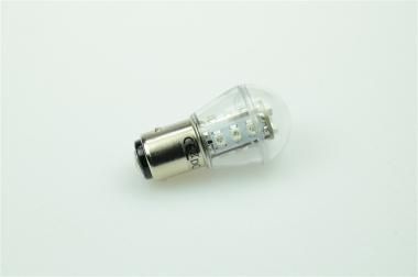 BAY15D LED-Miniglobe 27 Lumen Gleichstrom 10-30V DC Rot 0,7W