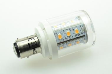 BAY15D LED-Bajonettsockellampe 250 Lumen Gleichstrom 10-30V DC warmweiss 2,5W