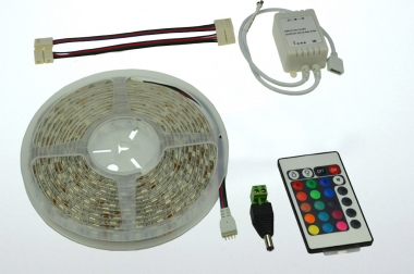 LED-Lichtband 290 Lumen Gleichstrom 12V DC RGB 72W dimmbar