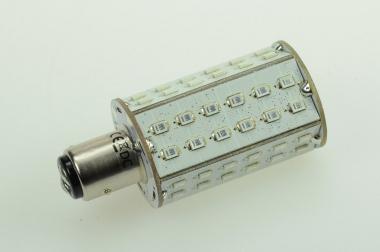 BAY15D LED-Bajonettsockellampe 130 Lumen Gleichstrom 10-30V DC Rot 4,3W
