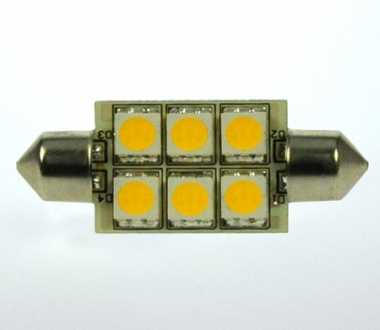 S8x37 LED-Soffitte 100 Lumen Gleichstrom 10-30V DC warmweiss 1W