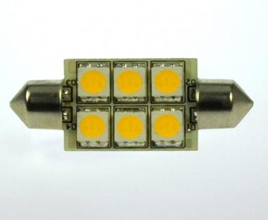 S8x42 LED-Soffitte 100 Lumen Gleichstrom 10-30V DC warmweiss 1W