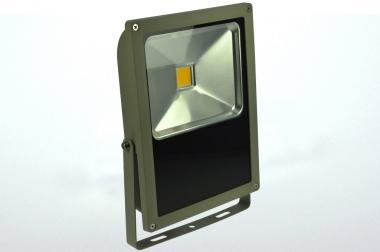 LED-Flutlichtstrahler 4860 Lumen Gleichstrom 120-230V DC warmweiss 70W flache Bauweise,