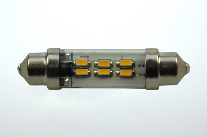 S8x37 LED-Soffitte 45 Lumen Gleichstrom 10-30V DC warmweiss 0,8W