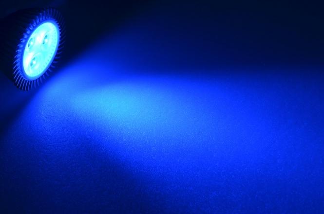 GU5.3 LED-Spot MR16 44 Lumen Gleichstrom 10-30V DC Blau 3,3W
