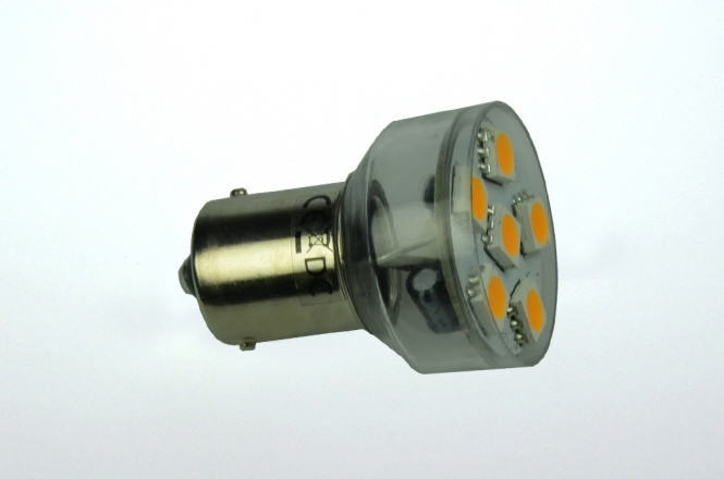 BA15S LED-Bajonettsockellampe 100 Lumen Gleichstrom 10-30V DC warmweiss 1W