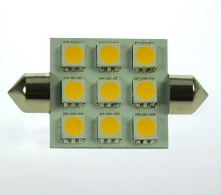 S8x42 LED-Soffitte 170 Lumen Gleichstrom 10-30V DC warmweiss 2W