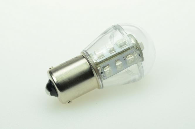 BA15S LED-Miniglobe 18 Lumen Gleichstrom 10-30V DC Blau 0,9W