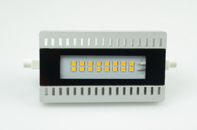 R7S LED-Stablampe 900 Lumen Gleichstrom 80-230V DC warmweiss 10W