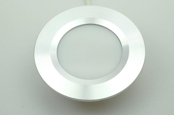 LED-Einbauleuchte 125 Lumen Gleichstrom 10-16V DC warmweiss 3W