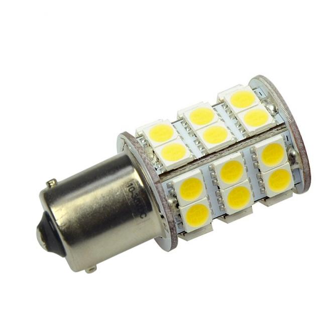 BA15S LED-Bajonettsockellampe 350 Lumen Gleichstrom 10-30V DC warmweiss 3 W