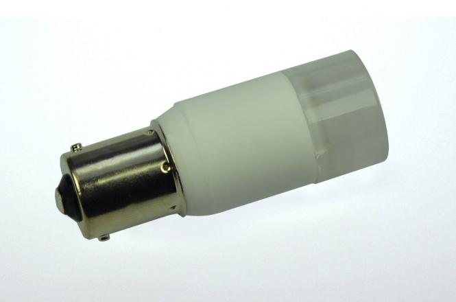BA15S LED-Bajonettsockellampe 140 Lumen Gleichstrom 10-30V DC warmweiss 2W