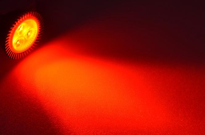 GU5.3 LED-Spot PAR16 120 Lumen Gleichstrom 10-30V DC Rot 2,3 W