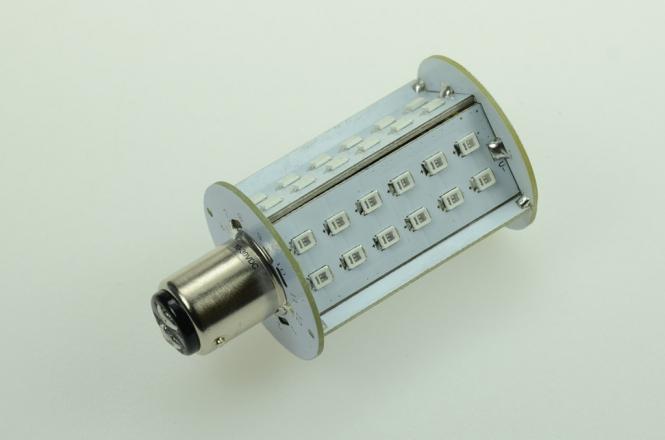 BAY15D LED-Bajonettsockellampe 250 Lumen Gleichstrom 10-30V DC Rot/Grün 4,5W