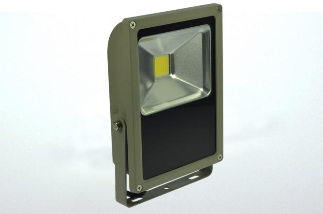 LED-Flutlichtstrahler 3700 Lumen Gleichstrom 120-230V DC warmweiss 50W flache Bauweise