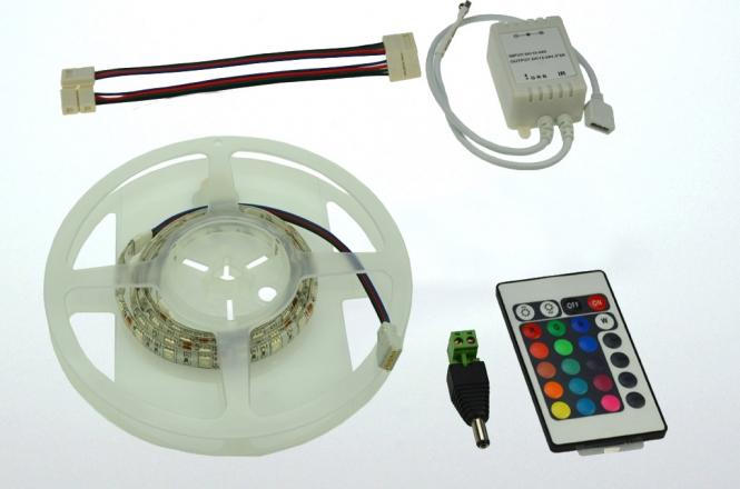 LED-Lichtband 290 Lumen Gleichstrom 12V DC RGB 14,4W dimmbar