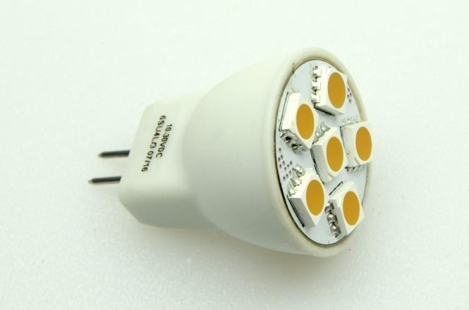 GU4 LED-Bajonettsockellampe 102 Lumen Gleichstrom 10-30V DC warmweiss 1W
