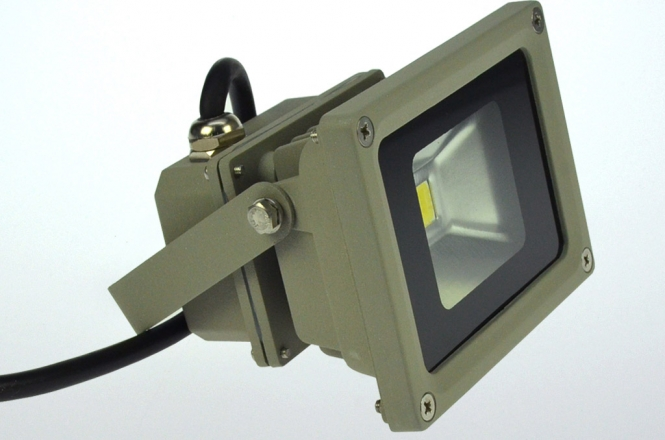 LED-Flutlichtstrahler 600 Lumen Gleichstrom 10-30V DC warmweiss 12W Niedervolt